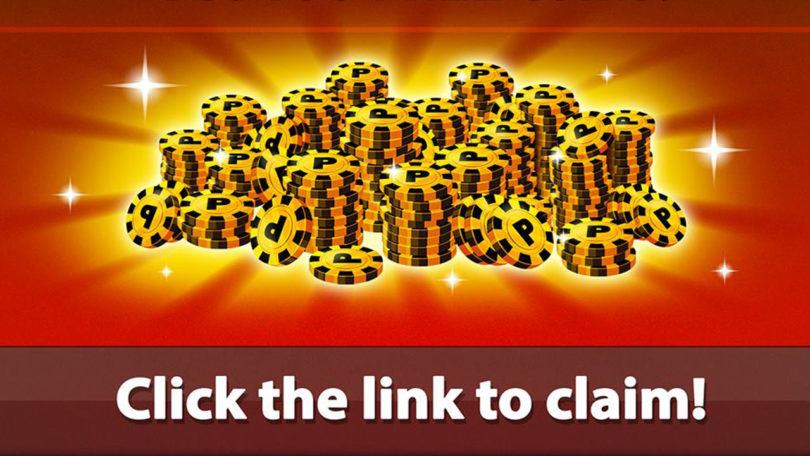 8 ball pool reward link free coins