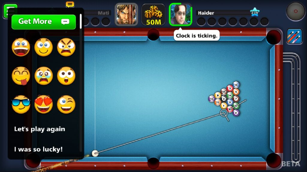 8 Ball Pool Emoji Chat