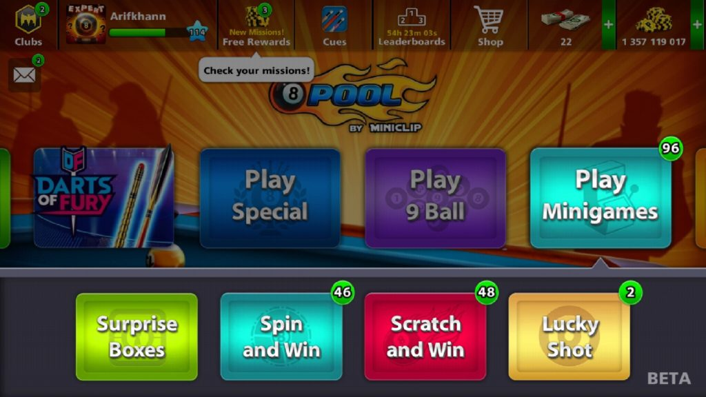 8 ball pool lucky shot