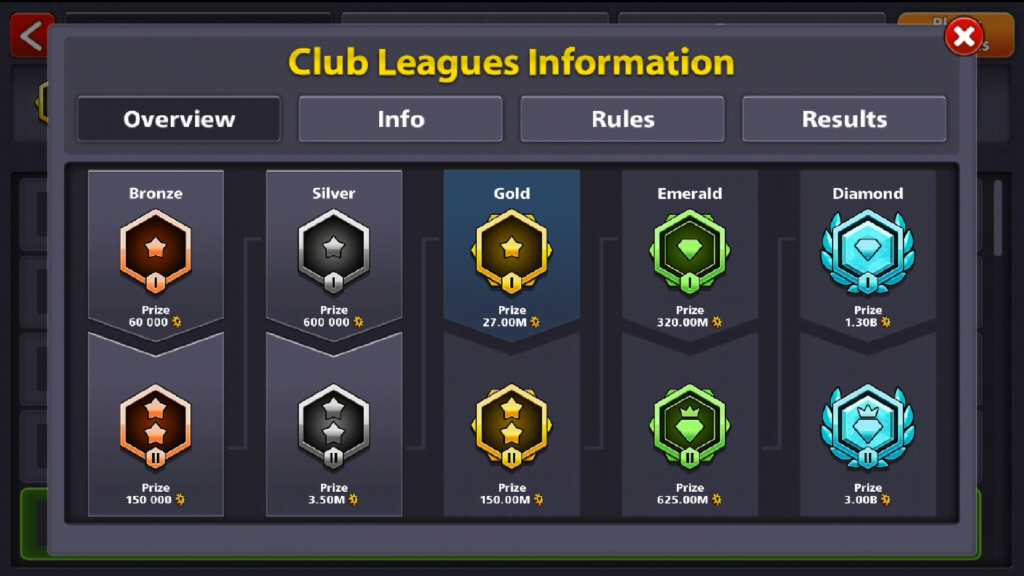 8 Ball Pool Club League
