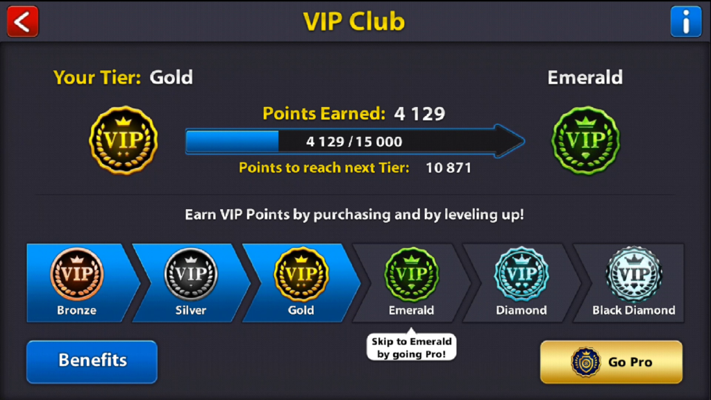 8 ball pool vip club black diamond