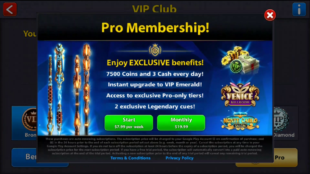 8 Ball Pool Pro Membership