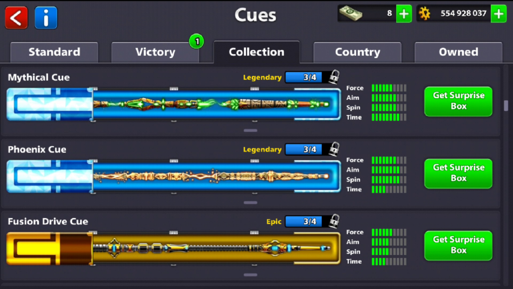 Rare, Epic & Legendary Cue