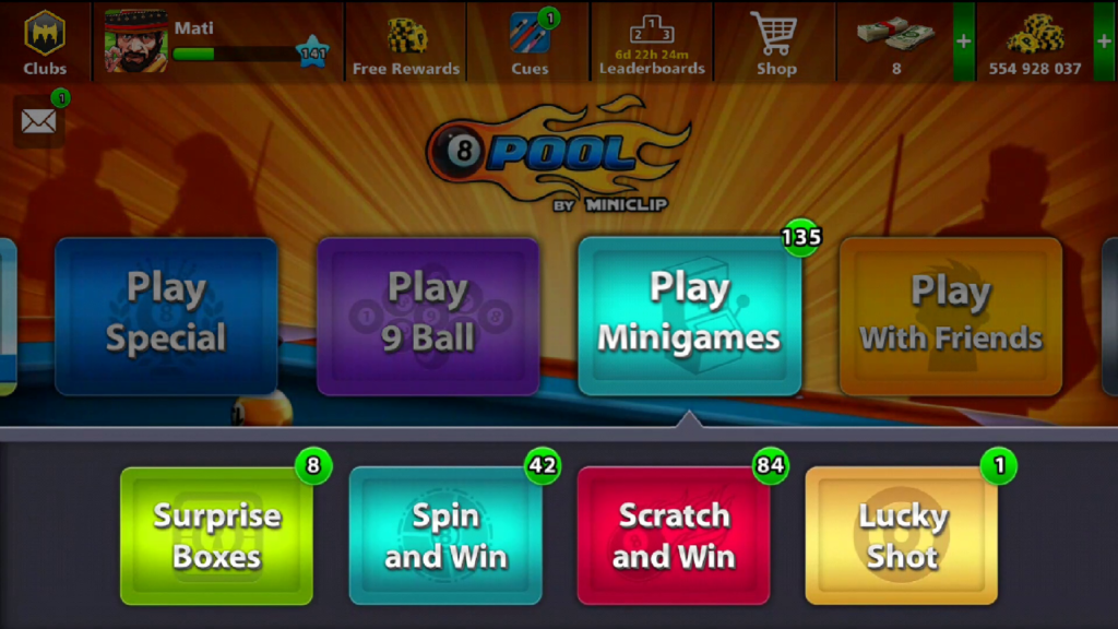8 Ball Pool Mini-Games