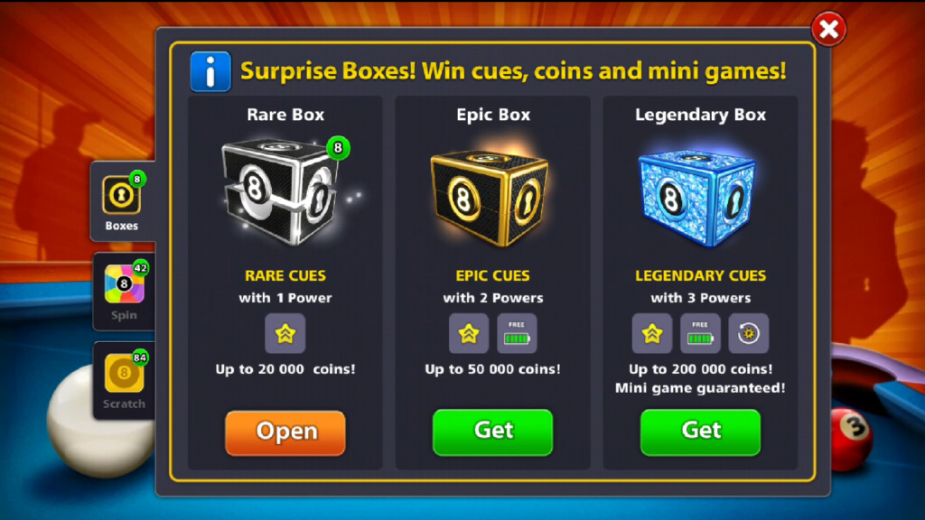 8 Ball Pool Surprise Box