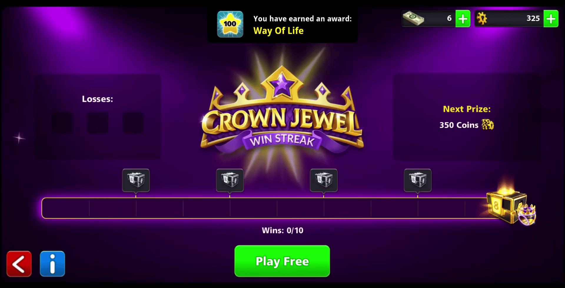 crown jewel win streak