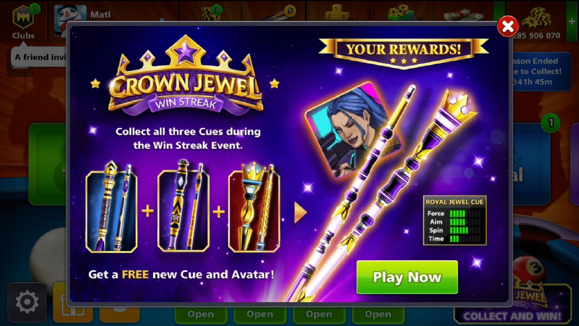 8 ball pool crown jewel