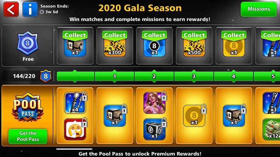 2020 gala season reward