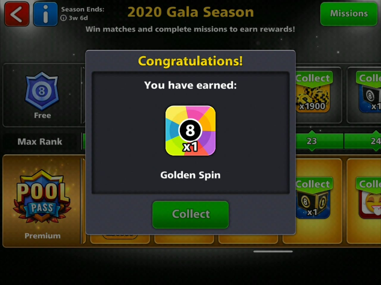 8 ball pool free golden spin