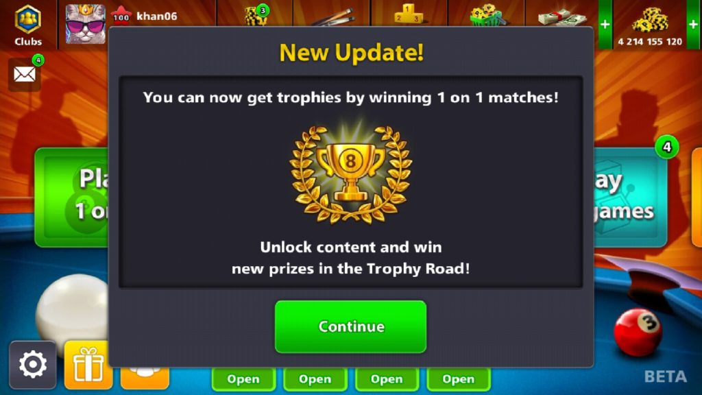8 ball pool new trophies