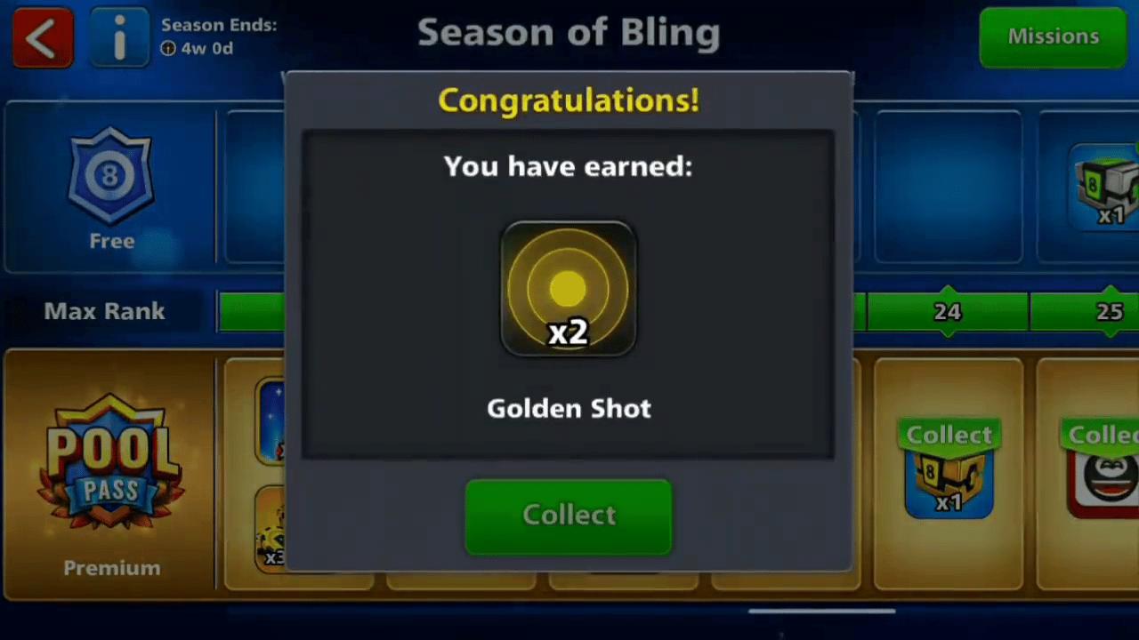8 ball pool free golden shot