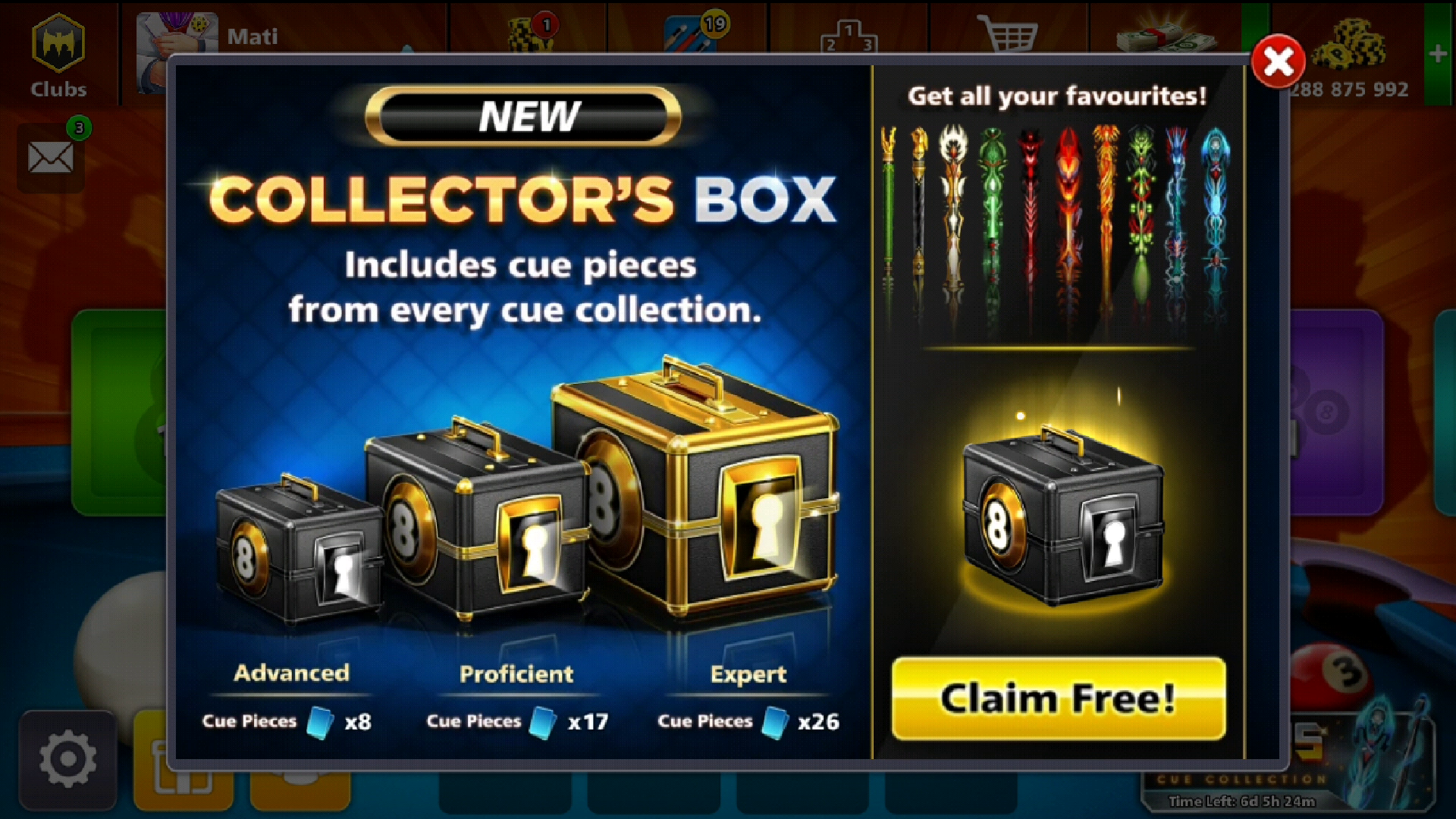 Collector Box Offer