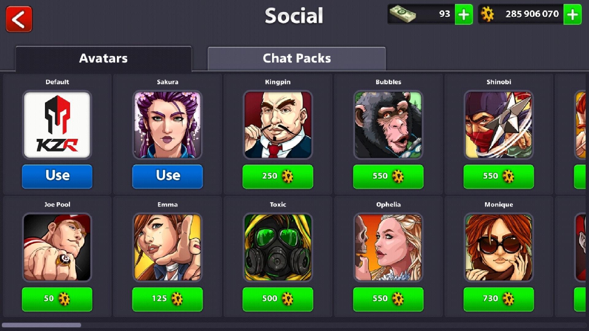 8 ball pool avatars