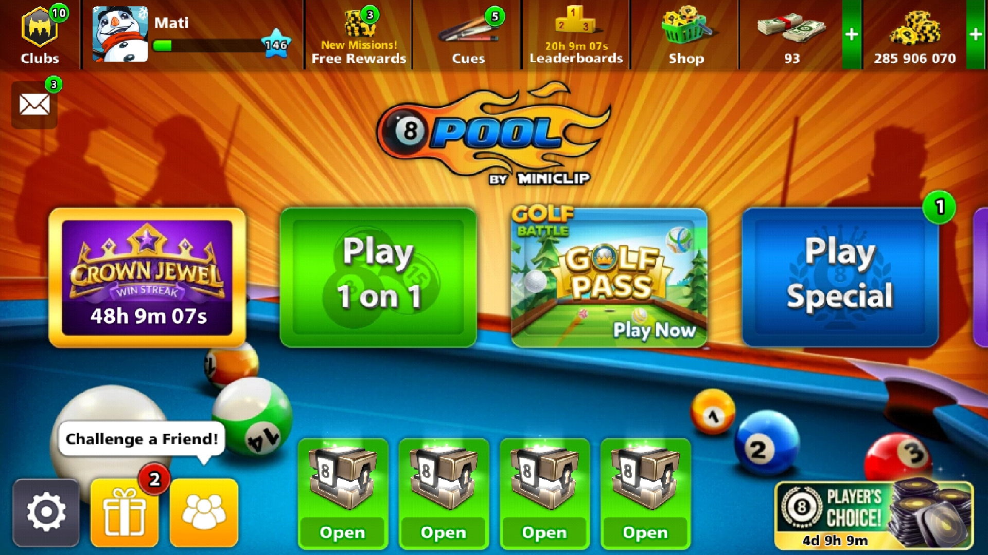 8 ball pool homepage