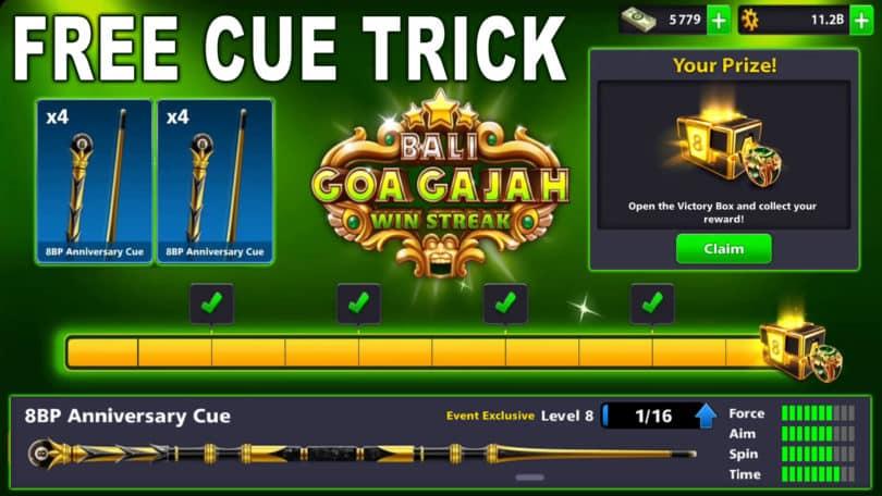 free cue trick win streak