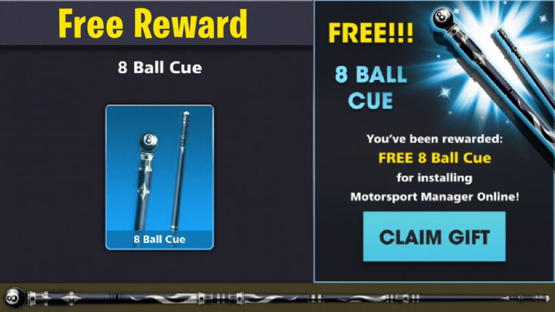 8 ball cue free