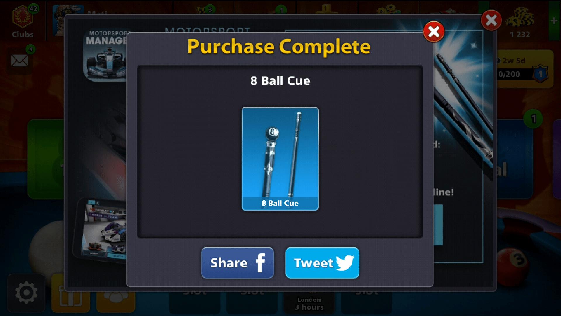 free 8 ball cue
