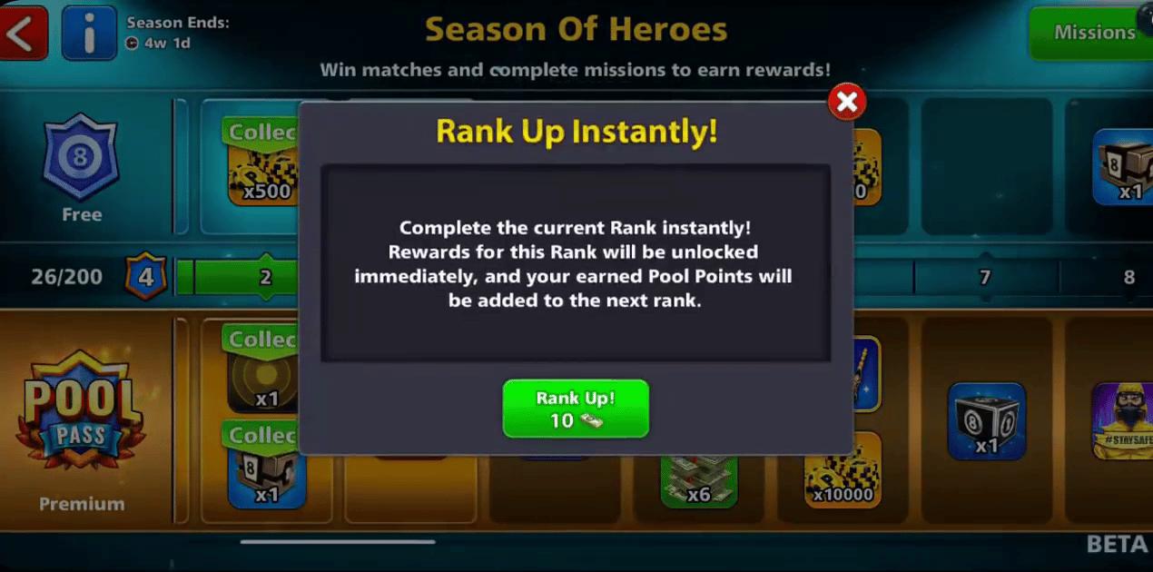 Season Of Heroes Rank Up