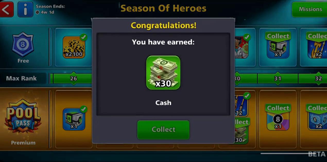 season of heroes cash