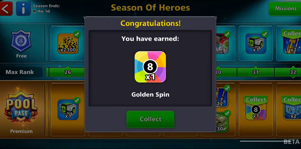 season of heroes golden spin
